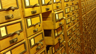 empty card catalog