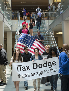 iTax Dodge protest